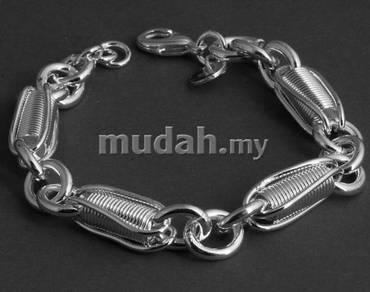 ABBS9-S007 Spring Design Link Silver 925 Bracelet