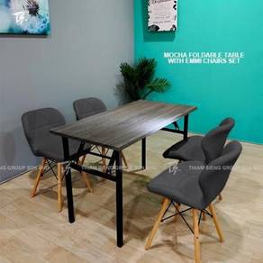 Foldable Table W60xL120xH74cm and Emmi chair
