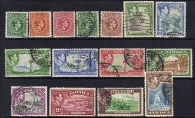Jamaica 1938-1952 kgvi used cat8 bj665