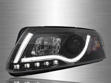 Audi A6 Projector LED Light Bar Head Lamp 04~08