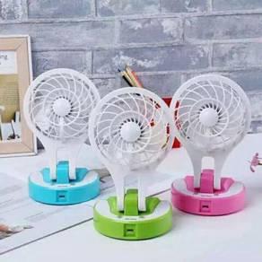 Portable light led mini fan