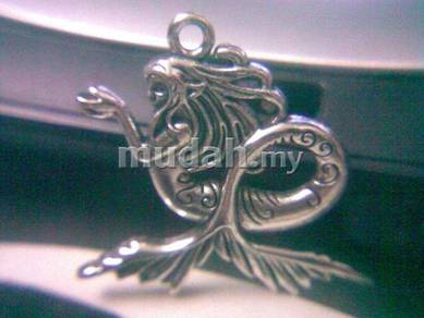 ABPSM-M003 lovely auspicious silver mermaid Neck