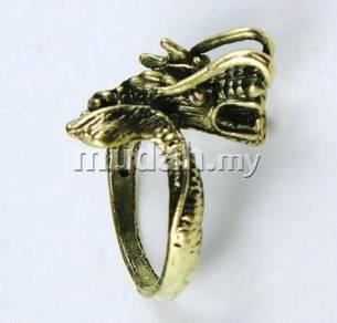 ABRB-D003 Bronze Vivid Dragon Fancy Cool Ring 6.25