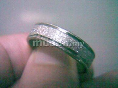 ABRSS-L001 Silver Side 2 Line Stainless Ring 10.75