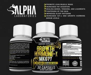 Alpha Lab MK677 SARM HGH Otot, Muscle Anti Aging