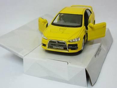 Mitsubishi Lancer Evo X 1/28 model car - Yellow