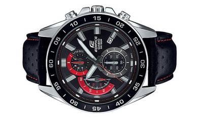 Casio EDIFICE Men Chrono Leather Watch EFV-550L-1A