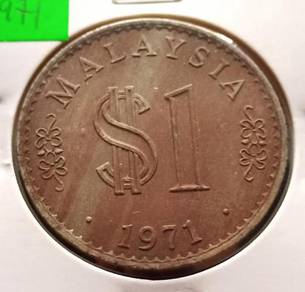Duit Syiling $1 Siri Parlimen 1971 (D)