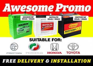 Preve Saga Exora Vios Car Battery delivery free