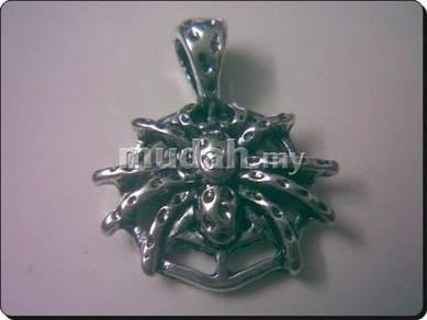 ABPSM-A007 SilverMetal Auspicious Araneid Necklace