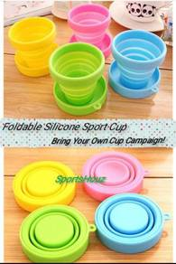 Foldable Silicone Sport Cup (Bring Your Own Cup)