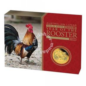 Lunar Series II 2017 Rooster Gold Proof Coin