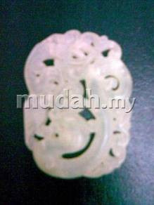 ABPJ-D008 Chinese Tang Jade Dragon Phoe Pendant