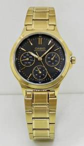 CASIO Ladies Gold Multifunction Watch LTP-V300G-1A