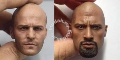 2pc-Hobbs & Shaw 1/6 Head sculpt