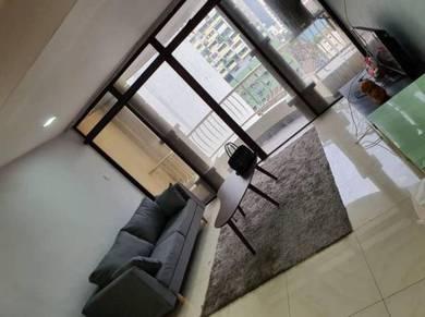 Mutiara villa condominium, bukit bintang 2bed fully++nice view++lrt