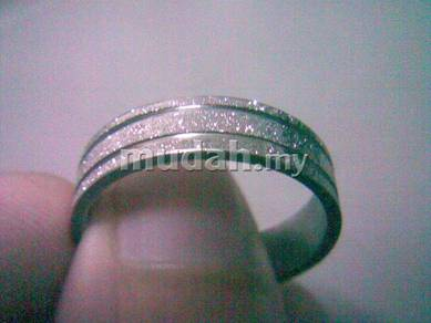 ABRSS-L002 Silver Center 2 Line Stainless Ring 10