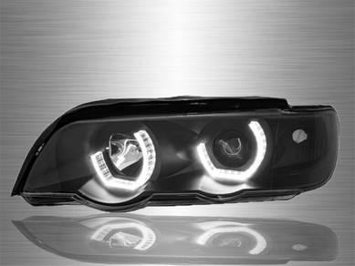 BMW X5 E53 Projector LED 3D Angle Eyes Head Lamp