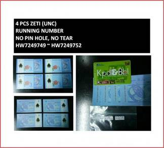 Pcol Duit Wang RM1 Zeti 4pcs 749~752 Running Bank