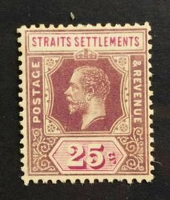 SS 1921-1933 KGV 25c [Die I] SG234 M/M BK548