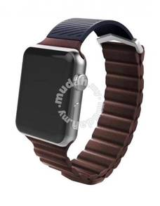X-Doria Magnetic Leather Loop for AppleWatch-BROWN