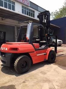 Japan Import TOYOTA Big Forklift 6 7 Ton Diesel