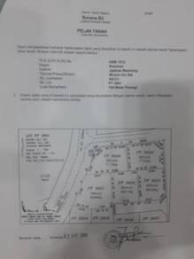 Tanah lot banglo bersaiz luas di tepi jalan dekat UITM