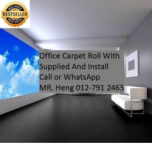 Classic Plain Design Carpet Roll with Install 42QH
