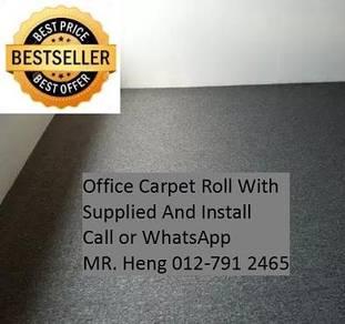 Modern Plain Design Carpet Roll With Install 76PQ