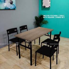Foldable Table W60xL120xH74cm and Square chair
