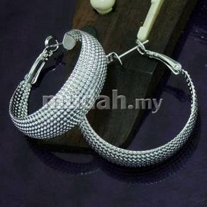 ABESM-E001 Exaggeration Silver Hoop Earring