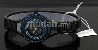 TITAN Ladies ALL BLACK SWAROVSKI Watch 9926NM02
