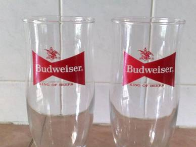 3501 cawan budweiser footed glass cup