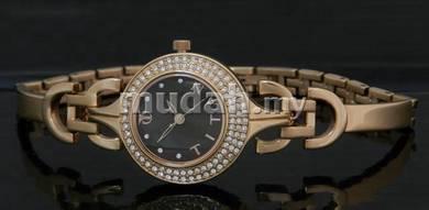 TITAN Ladies ROSE GOLD SWAROSVKI Watch 9925WM02