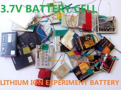 Battery Rechargeable Li-Ion 3.7V Experiment Cell