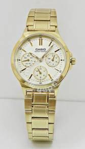 CASIO Ladies Gold Multifunction Watch LTP-V300G-9A