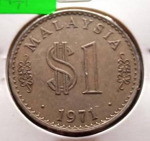 Duit Syiling $1 Siri Parlimen 1971 (C)
