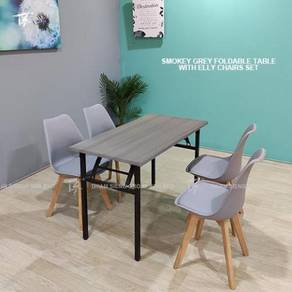 Foldable Table W60xL120xH74cm and Elly chair