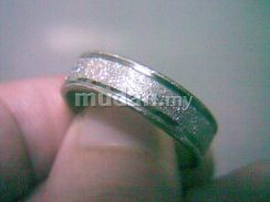 ABRSS-L001 Silver Side 2 Line Stainless Ring 11.75