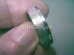 ABRSS-L007 Silver Side U 1 Line Stainless Ring Sz9