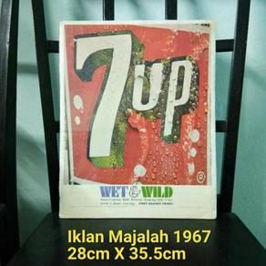 Pcol 7up Poster Lama Majalah 1967 Not Tin