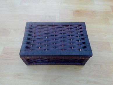 TExp Rattan Box Lama Vintage Old
