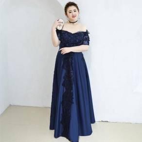 Blue red plus size wedding prom dress RBP0894