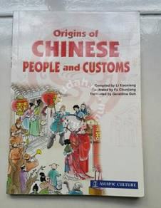 Origin of chinese people and custom book culture