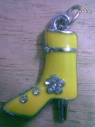 ABPSM-H001 Silver Metal High Heel Pendant Necklace
