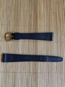 LOIUS MARTIN Blue Calf Leather Watch Strap 14mm