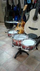 Drum Set 3 pcs: Maroon with stool