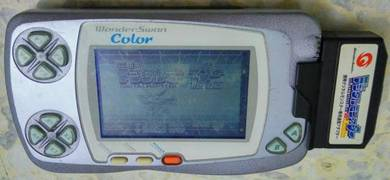 Bandai Wonderswan Color Pearl Blue + Digimon Game