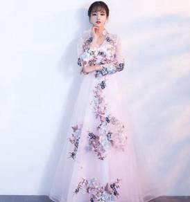 Muslimah white long sleeve Wedding dress RBP0740