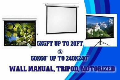 Projector screen manual motor tripod